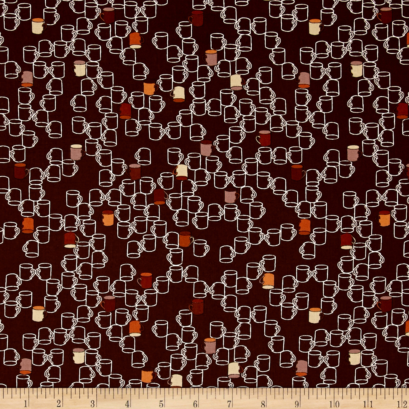 Image of Take a Break Coffee Mugs Brown Fabric
