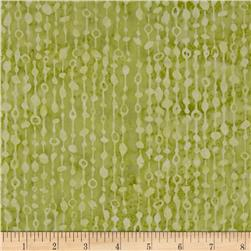 Bali Batiks Handpaint Beaded Curtain Watercress