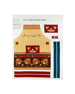 Give Thanks Apron 33 In. Panel Multi