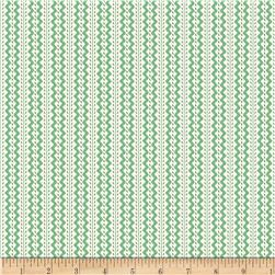 Back Porch Basics Rickrack Stripe Green
