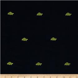 Embroidered 21 Wale Corduroy Turtle Navy