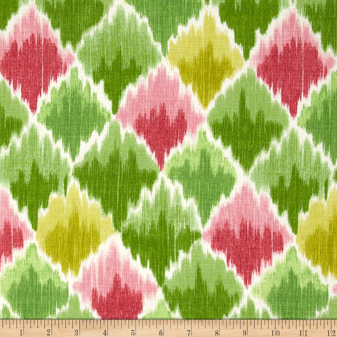 Waverly Baroque Bargello Slub Spring Fabric