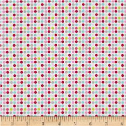 Riley Blake Christmas Basics Dot White Fabric