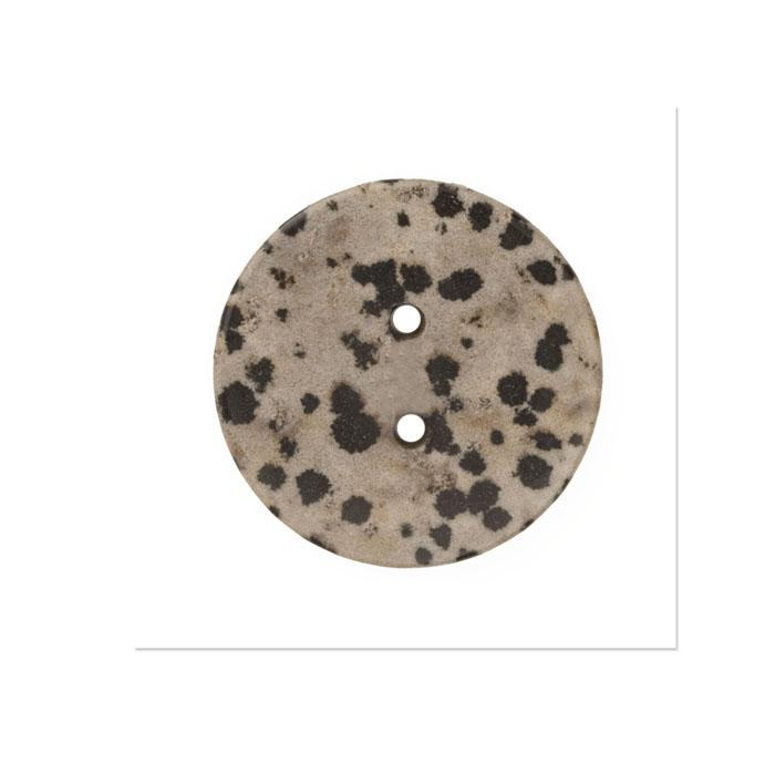 Precious Elements Model Stone Button 1 1/4'' Beige