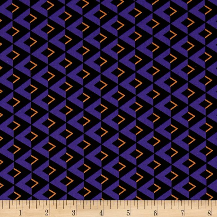 Moda Midnight Masquerade Chevrons on the Side Pirate Purple