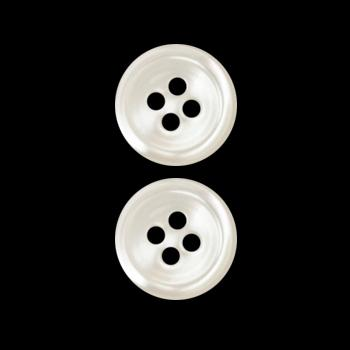 Genuine Shell Button 1/2'' Rim Pearl White