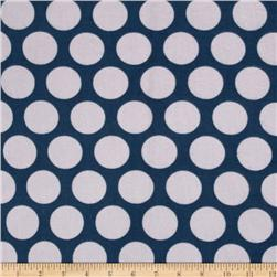 Riley Blake Super Star Flannel Large Dot Blue