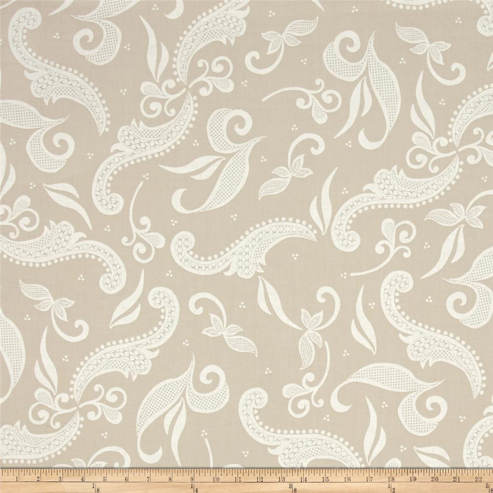 Hoffman Simply Eclectic Lace Scroll Teak