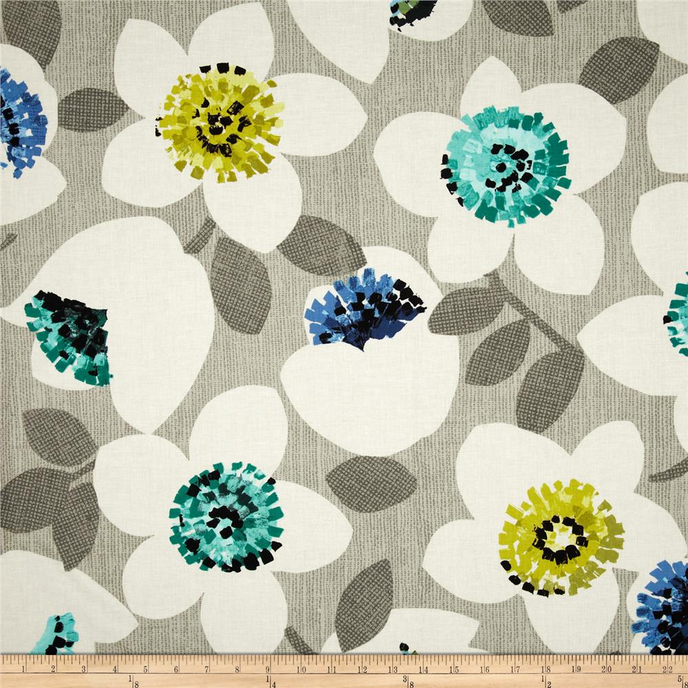 Contempo Cachet Large Floral Green/Grey