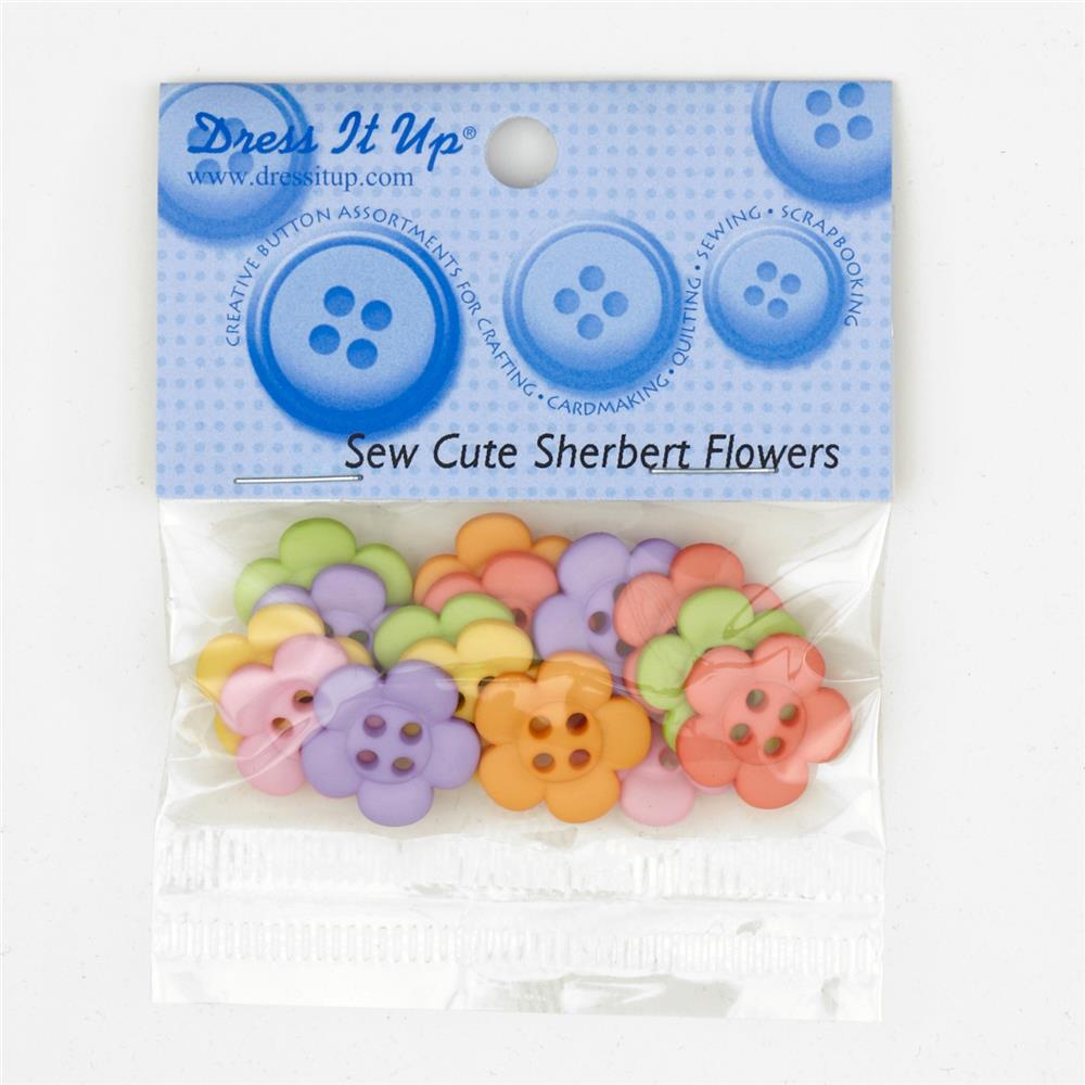 Dress It Up Embellisment Buttons Sew Cute Sherbert