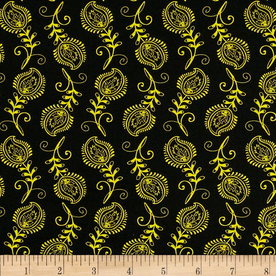 Contempo Feathers Black/Yellow