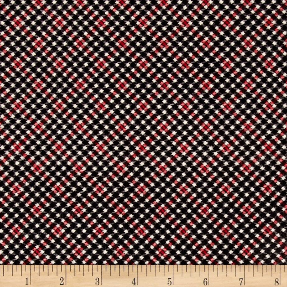 Timeless Treasures Oxford Flannel Shepherd's Check Red