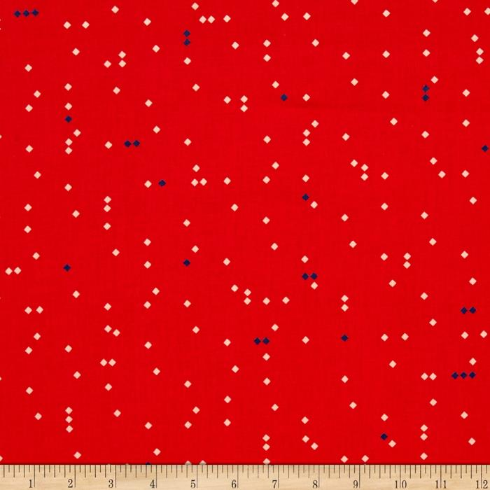Cotton & Steel Picnic Ant March Red