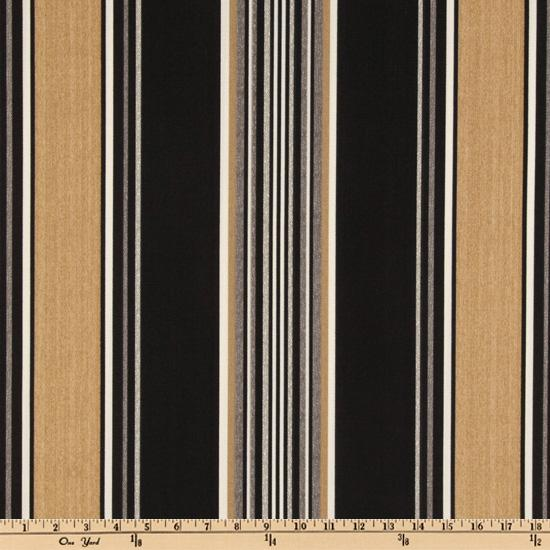 Bryant Indoor/Outdoor Manhattan Stripe Onyx