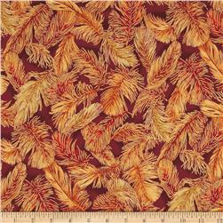 Crescendo Feathered Leaves Metallic Spice