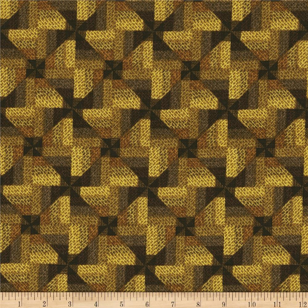 Ginger Rose Checkered Geometric Brown