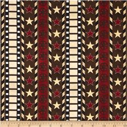 Date Night Ticking Stripe Red/Black Fabric