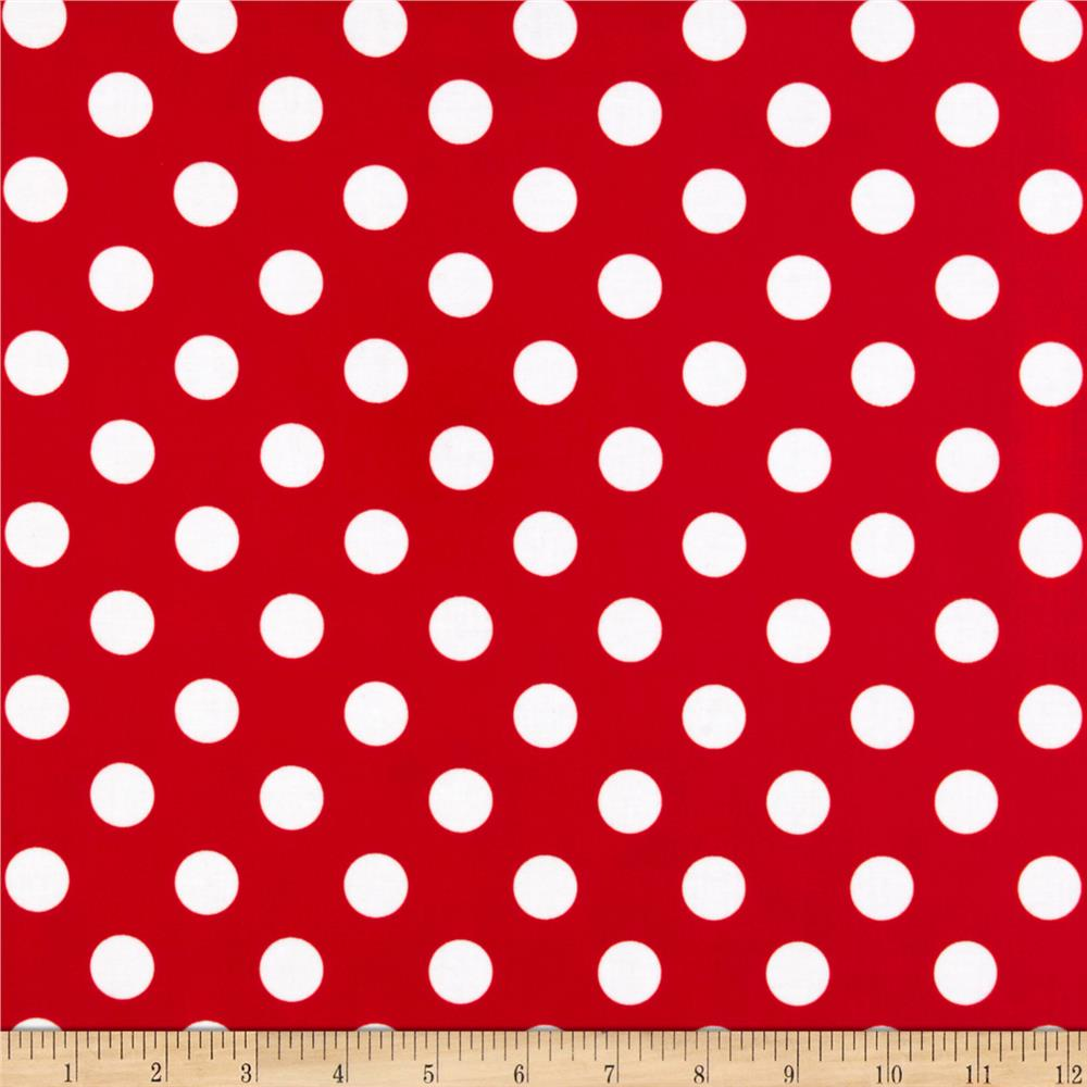 Riley Blake Laminate Medium Dots Red/White