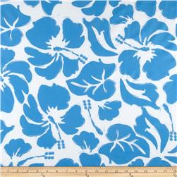 Nylon Lycra Swimwear Floral White/Blue