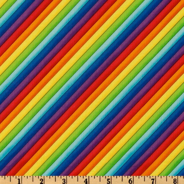Timeless Treasures Rainbow Stripes Multi