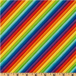 Timeless Treasures Rainbow Stripes Multi Fabric
