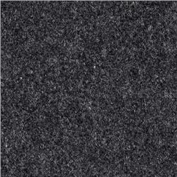 Wool Flannel Solid Charcoal
