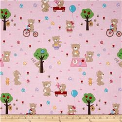 Riley Blake Teddy Bear's Picnic Teddy Main Pink