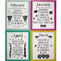 Lush Harvest January - April Calendar 24'' Panel Pink
