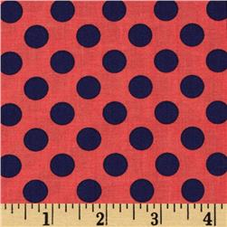 Michael Miller The Littles Ta Dot Poppy Fabric
