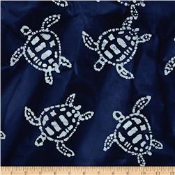 Indian Batik Sandy Hook Turtle Navy