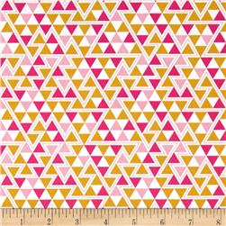 Joel Dewberry Wander Home Decor Sateen Triangles Rose
