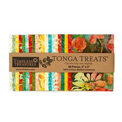 "Timeless Treasures Tonga Treat Salsa 5"" Mini Squares"