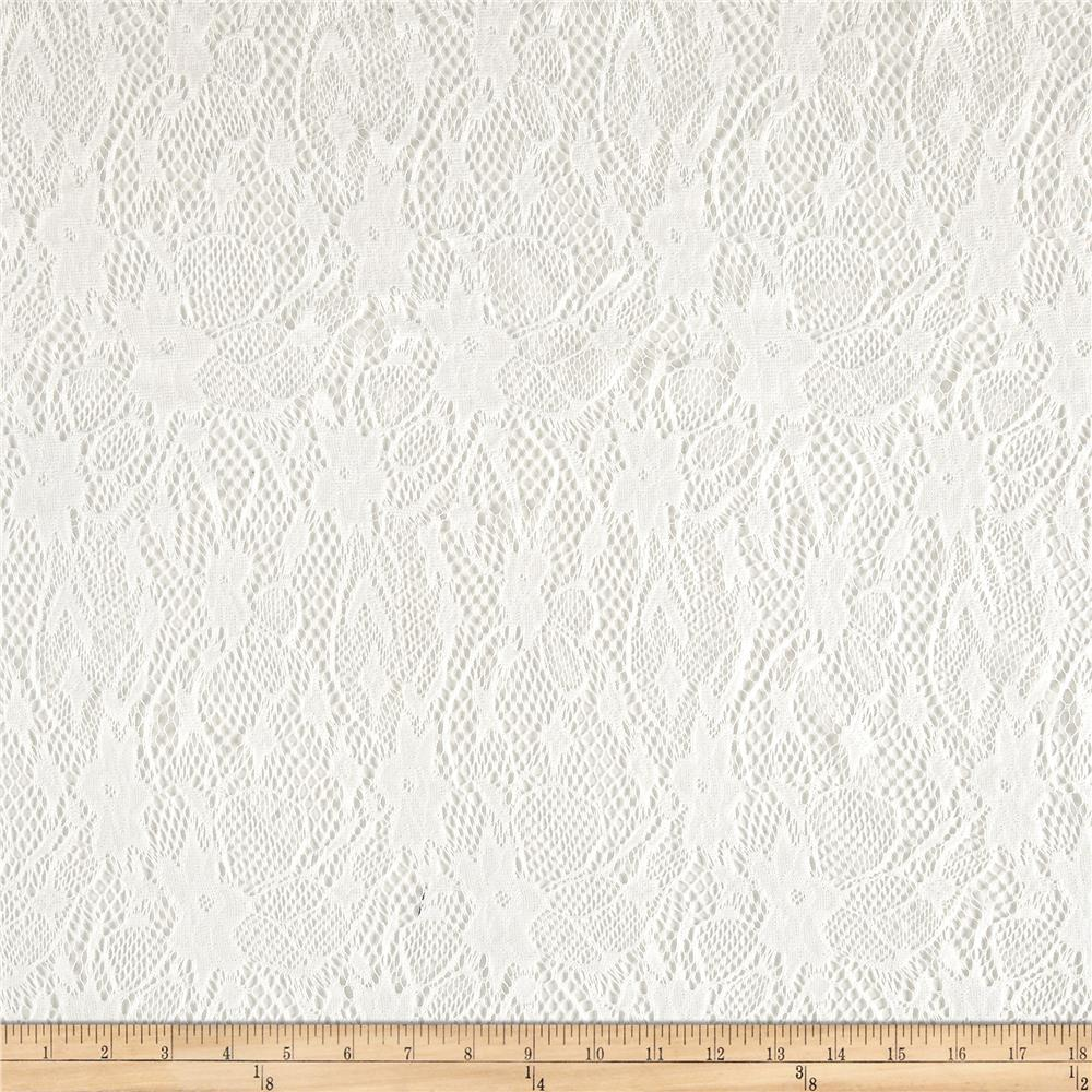 Crochet Lace Floral Antique White