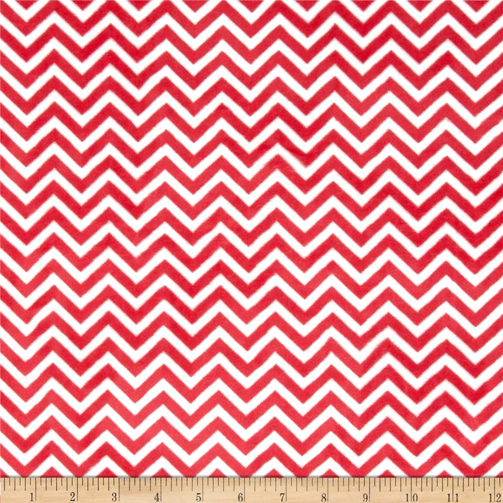 Minky Cuddle Mini Chevron Watermelon/Snow