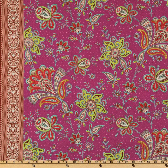 Amy Butler Soul Blossoms Joy Sari Blossoms Raspberry