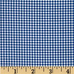 Morocco Blues Stretch Poplin Dots Blue