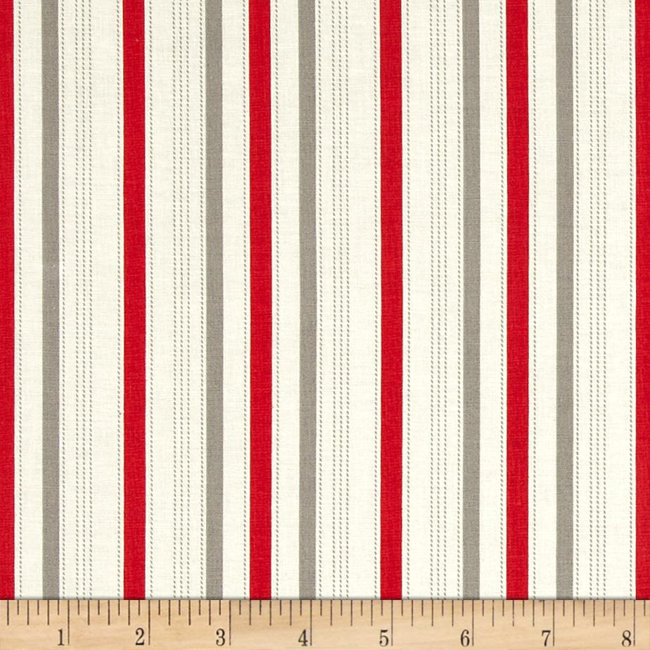 Riley Blake Sasparilla Stripe Red