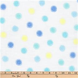 Kaufman Comfy Double Gauze Dots Sky