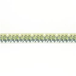 "7/8""Laura Foster Nicholson Dill on Cream"