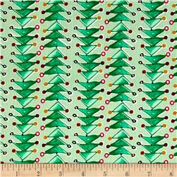 Joyful Holiday Trendy Trees Traditional Fabric