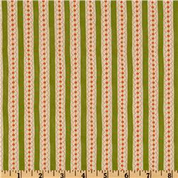 Moda Sassy Dotty Stripes Lime