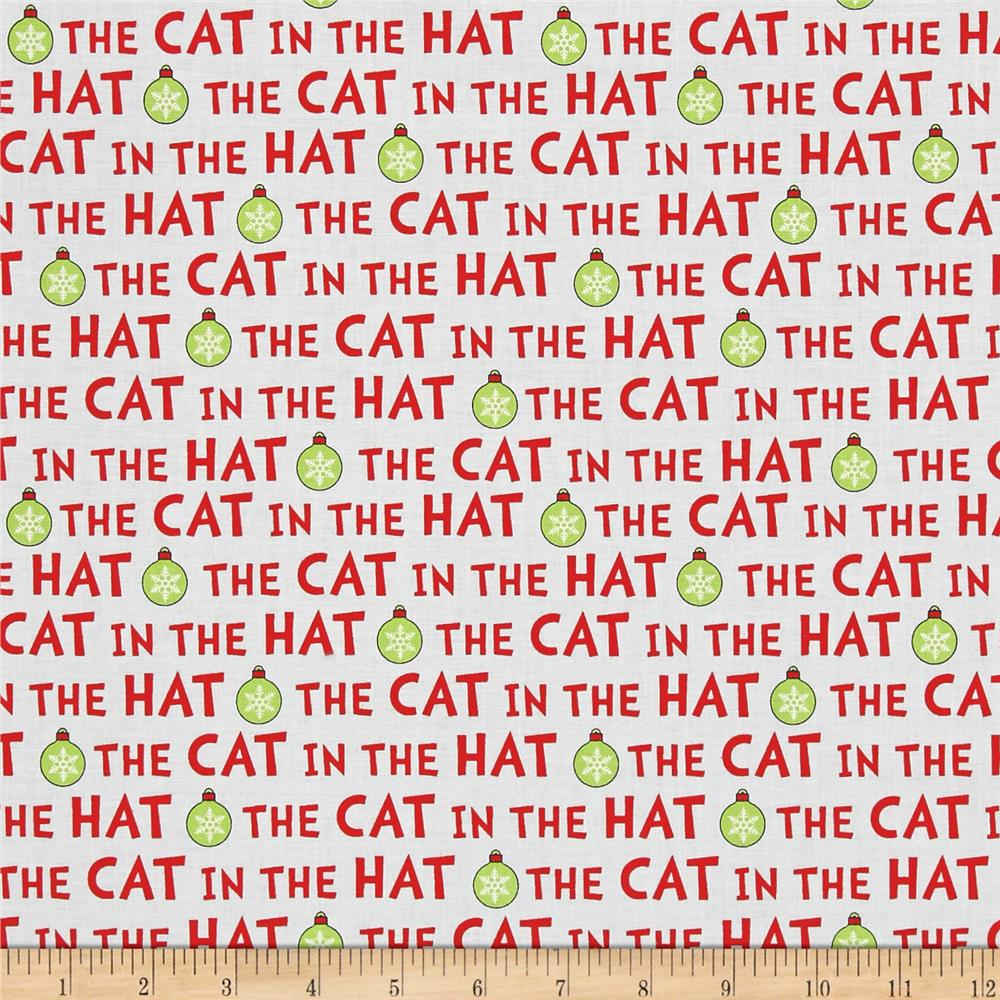 Kaufman The Cat In The Hat Christmas Words Holiday