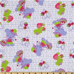 Camelot Flannel Kitties & Berries Purple