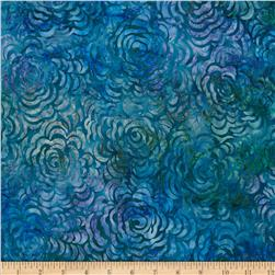 Artisan Batiks Spring Mod 2 Floral Spray Blueberry