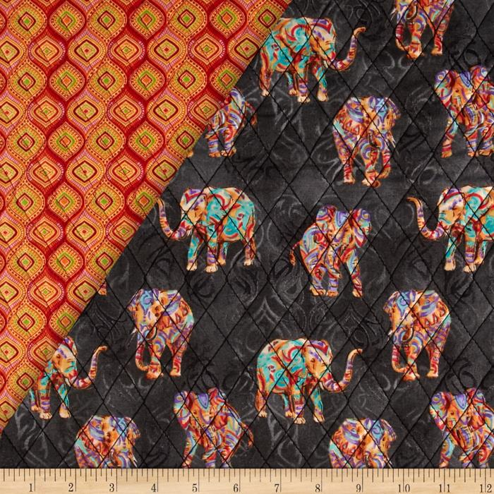 Tribal Instincts Double Sided Quilted Tribe Elephant Bright