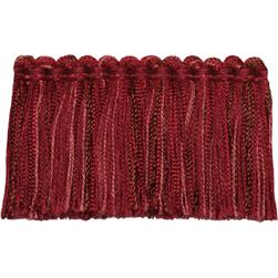 Fabricut Bangle Brush Fringe Ruby