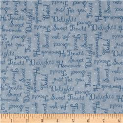 Kelly's Sweet Treats Words Light Blue