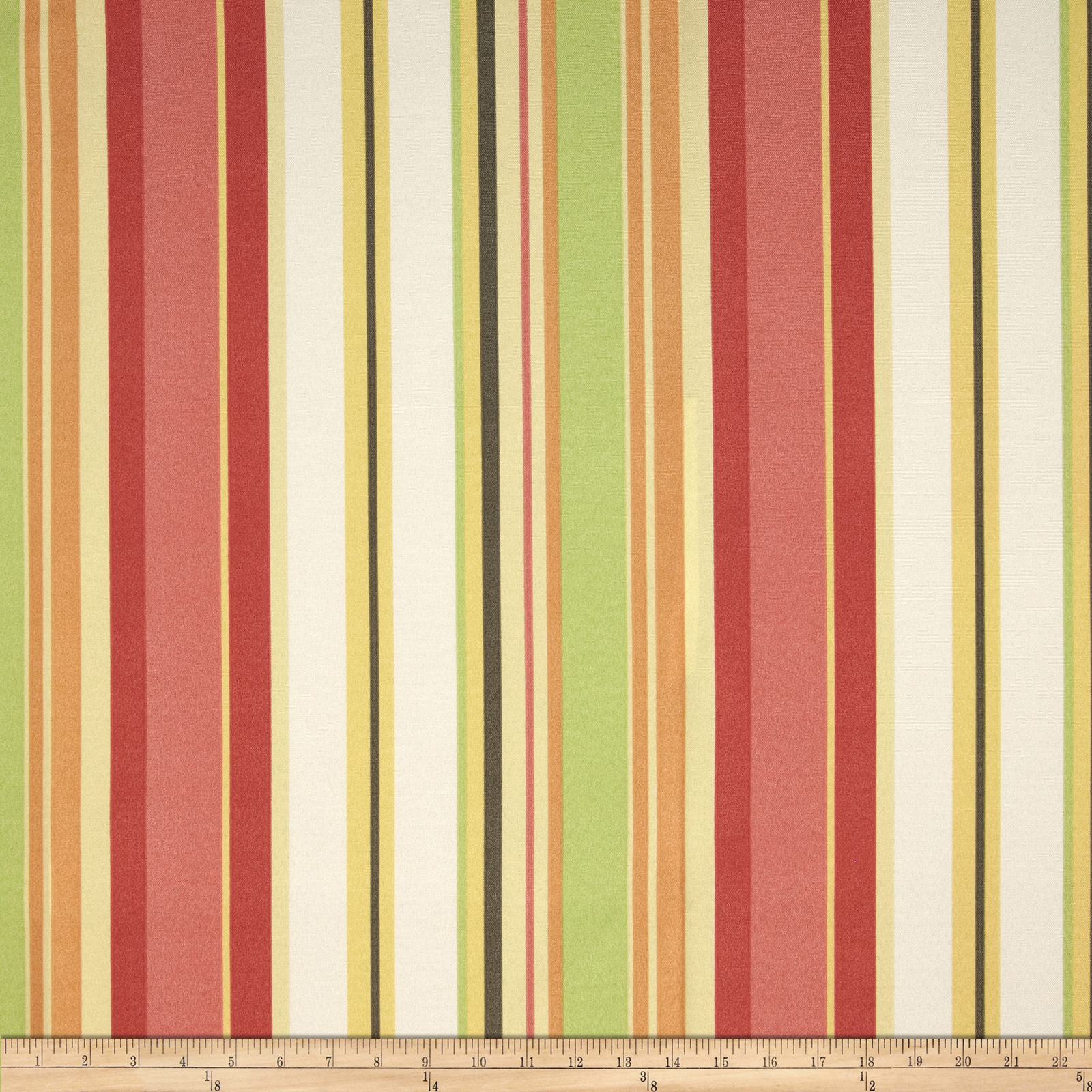 Dwell Studio Indoor/Outdoor Cabana Stripe Coral Fabric