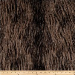 Faux Fur Foxy Feather Fur Brown Fabric