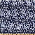 Cozy Cotton Flannel Alphabet Navy